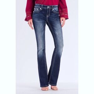 Miss Me Mid Rise Boot Cut Jeans Size 27 6412